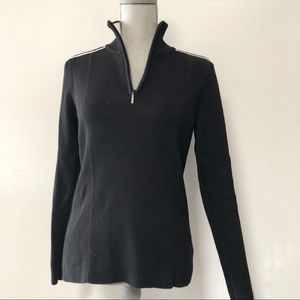 Tommy Hilfiger half zip ribbed sweater